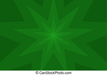 nine pointed star green abstract vector background
