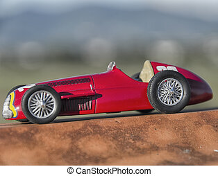 Stylish racing car of the Nuvolari era