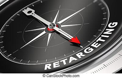 Behavioral Retargeting or Remarketing Concept - 3D...