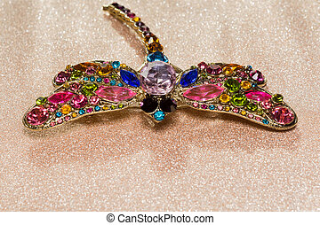 Dragonfly Shaped Brooch - Brooch in a shape of a dragonfly...