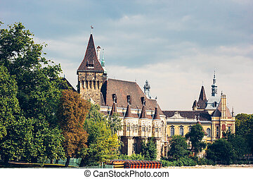 The building of Vajdahunyad castle, Budapest, Hungary