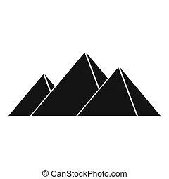 Pyramids in Giza icon, simple style - Pyramids in Giza icon....