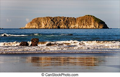 Costa Rica's Carara National Park. - Coast of Pacific ocean....