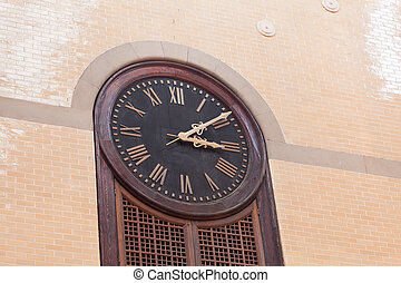 CNJRR Clock at Liberty State Park - JERSEY CITY, NEW JERSEY,...