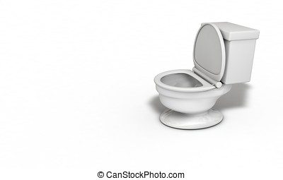Water closet right view 3d render
