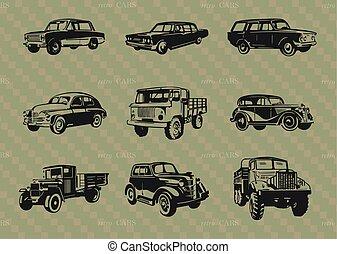 Set of retro cars..eps - Set of retro cars.