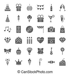 Birthday Solid Web Icons