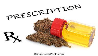 Medicinal cannabis prescribed as medicine in a prescription