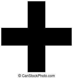 Religious sign. Christianity. Greek cross. Vector Format.