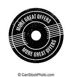 More Great Offers rubber stamp. Grunge design with dust...