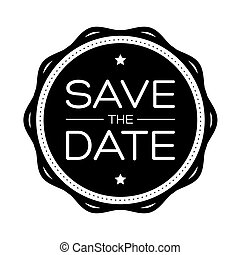 Save the Date vintage lettering vector