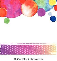 bright watercolor circle