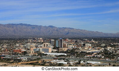 Aerial timelapse of Tucson, Arizona - An aerial timelapse of...