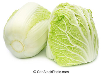 Chinese cabbage over white background