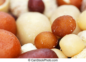 Popular Bangladeshi Sweetmeats - Closeup of popular...