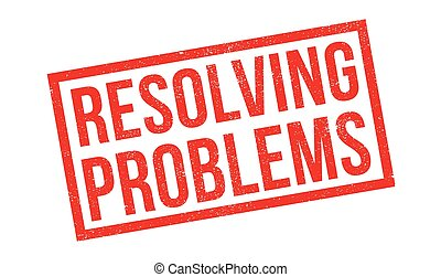 Resolving Problems rubber stamp. Grunge design with dust...