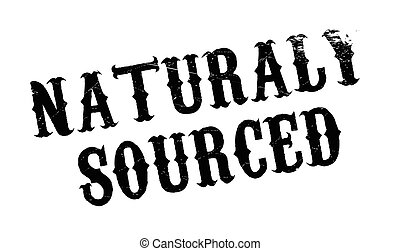 Naturaly Sourced rubber stamp. Grunge design with dust...