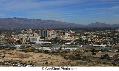 Aerial view of Tucson, Arizona city center - An aerial view...