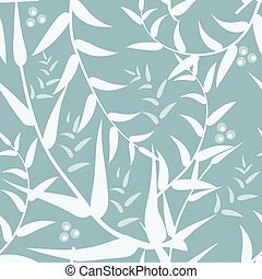 Vector abstract seamless background with leaves