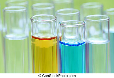 Test tubes in a research laboratory
