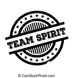 Team Spirit rubber stamp. Grunge design with dust scratches....
