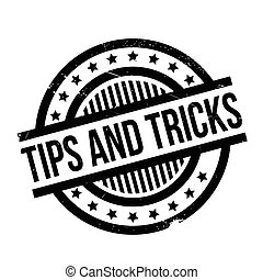 Tips And Tricks rubber stamp. Grunge design with dust...