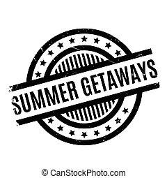 Summer Getaways rubber stamp. Grunge design with dust...