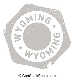 Wyoming rubber stamp. Grunge design with dust scratches....