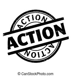 Action rubber stamp. Grunge design with dust scratches....
