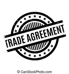Trade Agreement rubber stamp. Grunge design with dust...