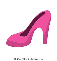 women day pink high heel shoes vector illustration eps 10