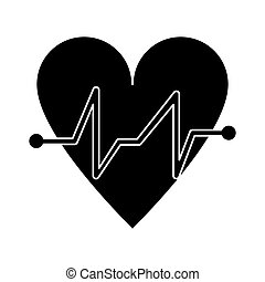 heart beat pulse cardiac medical pictogram