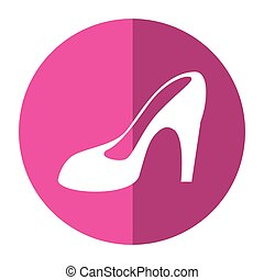 women day high heel shoes shadow vector illustration eps 10