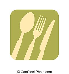 kitchen cutlery tools pattern