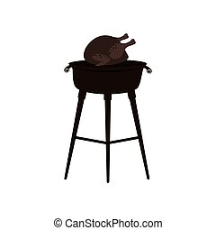 grill with chicken icon