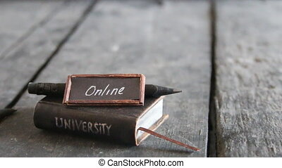 online universities idea, educational concept - online...