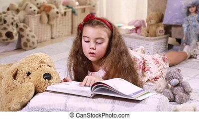 Girl reading a book - Sweet girl resting at home and reading...