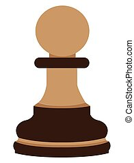 Isolated pawn piece on a white background, Vector...