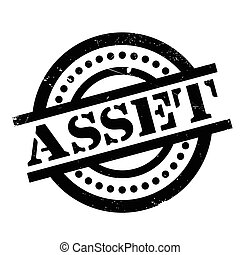 Asset rubber stamp. Grunge design with dust scratches....