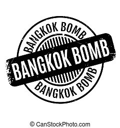 Bangkok Bomb rubber stamp. Grunge design with dust...