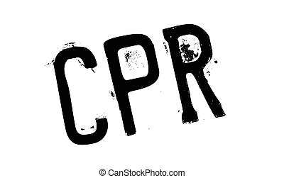 CPR rubber stamp. Grunge design with dust scratches. Effects...
