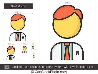 Dentist line icon.