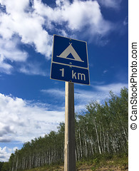 Camping Area One Kilometer Ahead