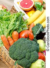 健康, 食物, 蔬菜,  -, 水果