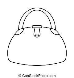 woman handbag fashion style thin line
