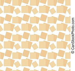 Passover seamless pattern with matzah. Pesach endless...