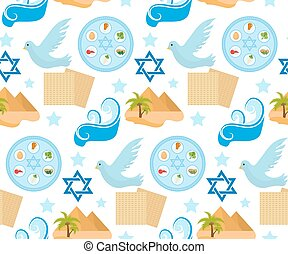 Passover seamless pattern. Pesach endless background,...