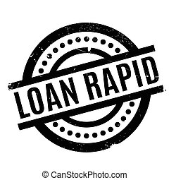 Loan Rapid rubber stamp. Grunge design with dust scratches....