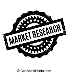 Market Research rubber stamp. Grunge design with dust...