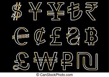 currencies symbols,
